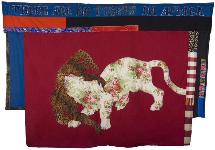 Hassan Musa - There are no tigers in Africa, 2010 - Assembled textiles - 170cm x 236cm